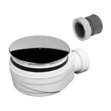 Válvula para plato de ducha con tapa en acero inoxidable