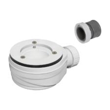Válvula blanca extraplana para plato de ducha sin tapa