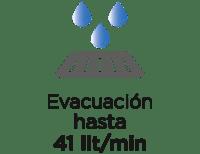 Evacuacion 41 litros