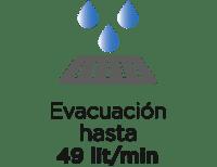 Evacuación 49 litros